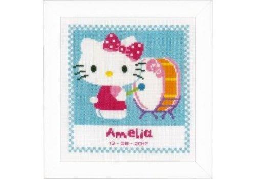 Vervaco Geboortetegel Hello Kitty speelt op trom: Amelia
