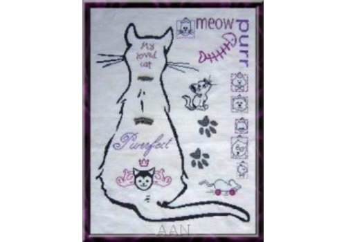 Alessandra Adelaide Needleworks My Cat Sampler