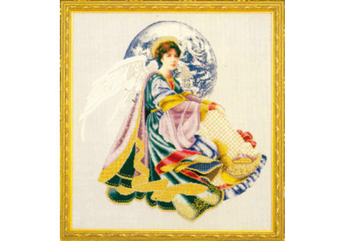 Lavender and Lace World peace angel - patroon