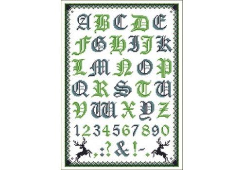 Lindner Folklore alfabet (blauw/groen)