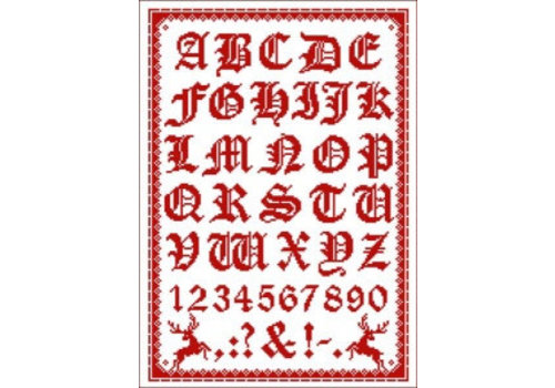 Lindner Folklore alfabet (rood)