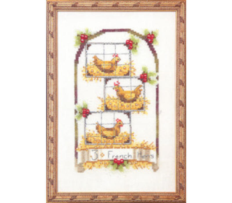 12 Days of Christmas - Three French Hens - patroon
