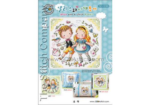 Soda Stitch Alice and a Clock Rabbit
