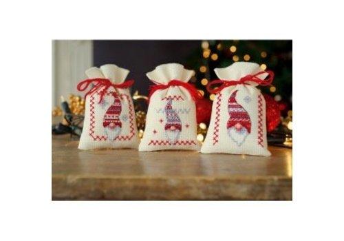 Vervaco Lavendelzakje (set van 3) Kerstkabouters