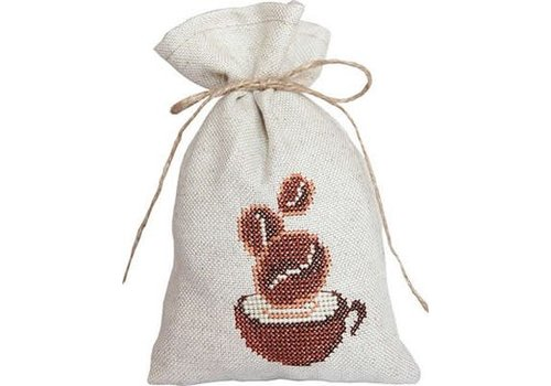 Luca-S Cross Stitch Bag - Coffee