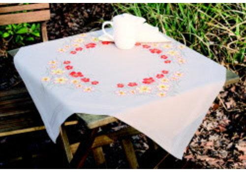Vervaco Kleed: Klaprozen en vanillebloemen