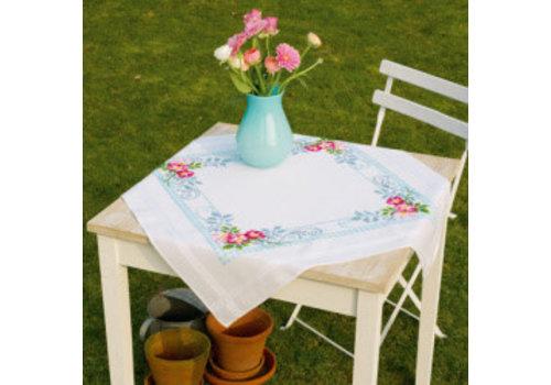 Vervaco Kleed: Roze bloemenpracht