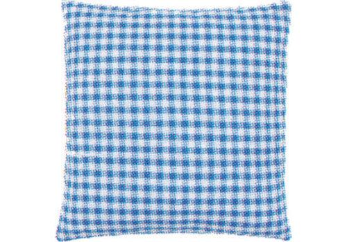 Vervaco Kussenrug blauwe ruit (45x45 cm.)