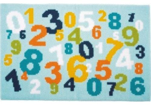 Vervaco Kruissteek tapijt: cijfers