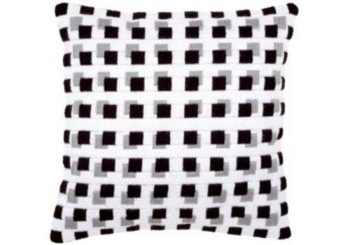 Vervaco Bargello: zwart-wit 1