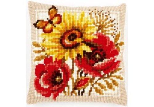 Vervaco Klaprozen en zonnebloemen