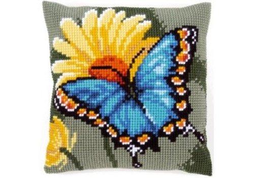 Vervaco Vlinder met gele bloem