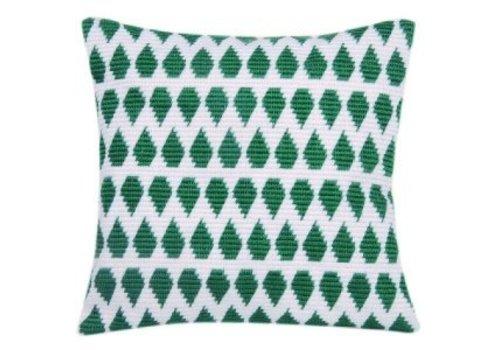 Vervaco La Maison Victor Collectie - Wit met groene motieven