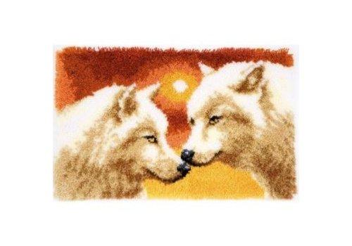 Vervaco Knoopkleedje: Wolven en zonsondergang