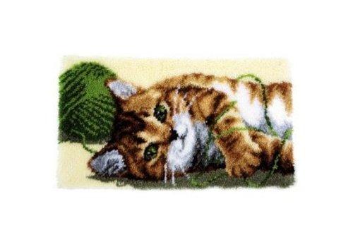 Vervaco Knoopkleedje Spelende kat