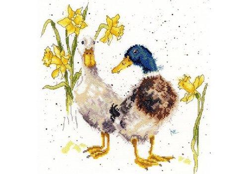 Bothy Threads Hannah Dale - Ducks And Daffs - Bothy Threads