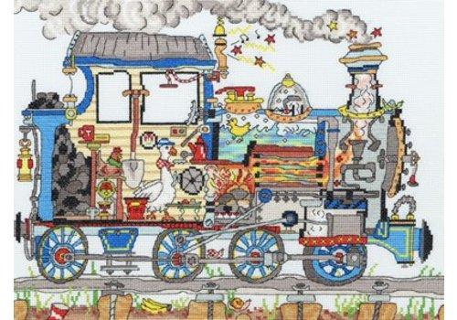Bothy Threads Cut Thru' - Steam Train - Bothy Threads