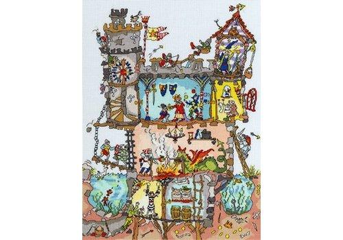 Bothy Threads Cut Thru' - Castle - Bothy Threads