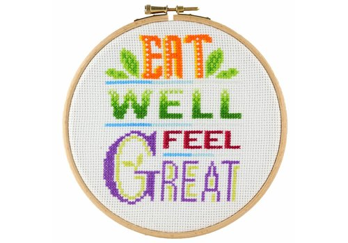 Stitchonomy  Feel Great - hoop