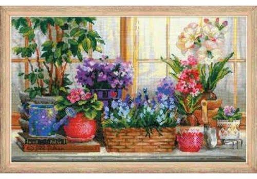 RIOLIS Windowsill with Flowers