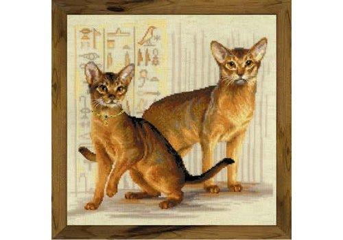 RIOLIS Borduurpakket Abyssinian cats - RIOLIS