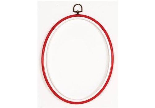 Vervaco Lijst/borduurring 20 x 25 cm ovaal - rood