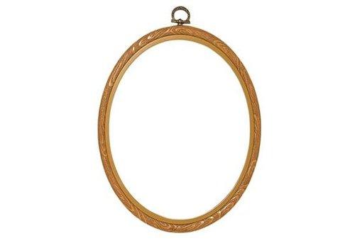 Vervaco Lijst/borduurring 20 x 25 cm ovaal - houtkleur