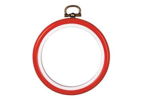 Vervaco Lijst/borduurring 7,5 cm - rood