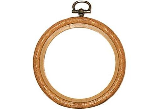 Vervaco Lijst/borduurring 7,5 cm - houtkleur