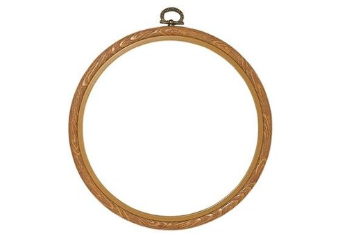 Vervaco Lijst/borduurring 15 cm - houtkleur
