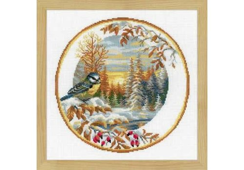 RIOLIS Borduurpakket Plate with Oriole