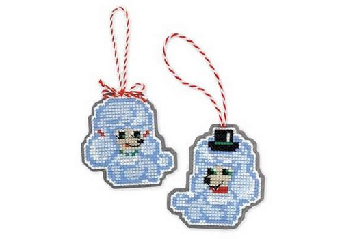 RIOLIS Borduurpakket Christmas Tree Decoration Dogs