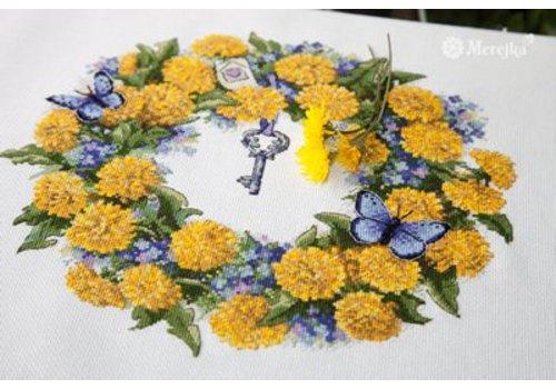 Merejka Borduurpakket Dandellion Wreath