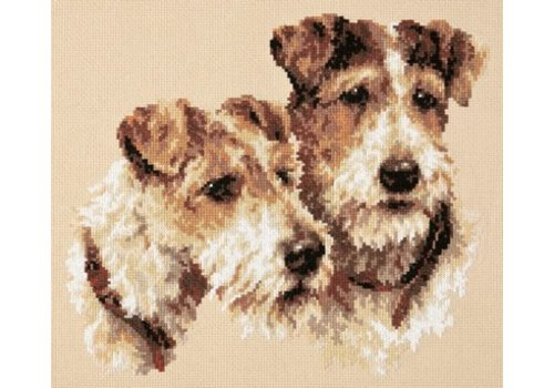 Chudo Igla Borduurpakket Fox Terriers