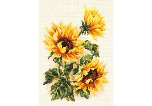 Chudo Igla Borduurpakket Three sunflowers