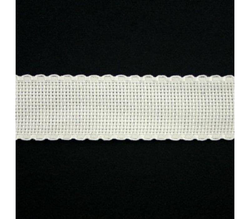 Aidaband 3 cm - gebroken wit