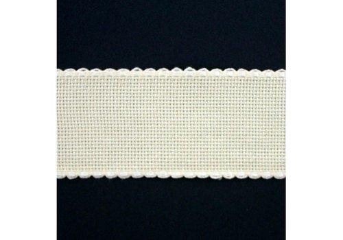 Jobelan Aidaband 5 cm - gebroken wit