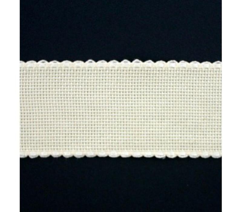 Aidaband 5 cm - gebroken wit