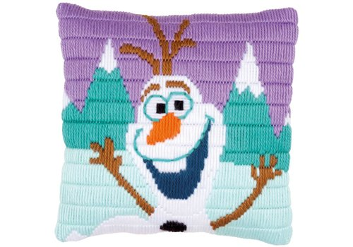 Vervaco Frozen: Spansteek Borduurkussen Olaf