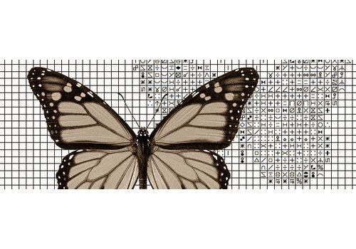 Papilion Papilion borduurpakket 3 - sepia - 48 x 64 cm