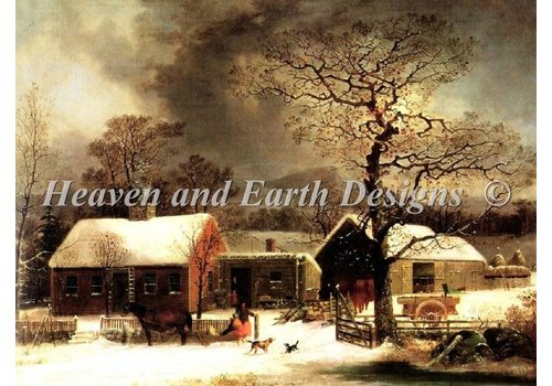 Heaven and Earth Designs  George Henry Durrie: Winter Scene in New Haven