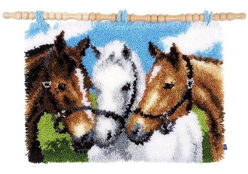 Vervaco Knoopkleed: Paarden