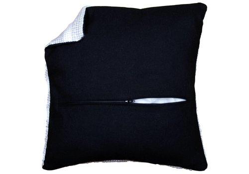 Vervaco Kussenrug met ritssluiting zwart (45x45 cm)