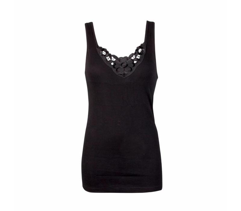 Beeren Dames hemd Viola Zwart