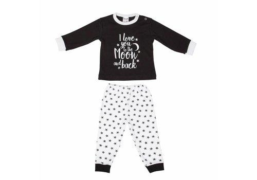 Beeren Ondergoed Beeren Ondergoed Baby Pyjama to the Moon Zwart