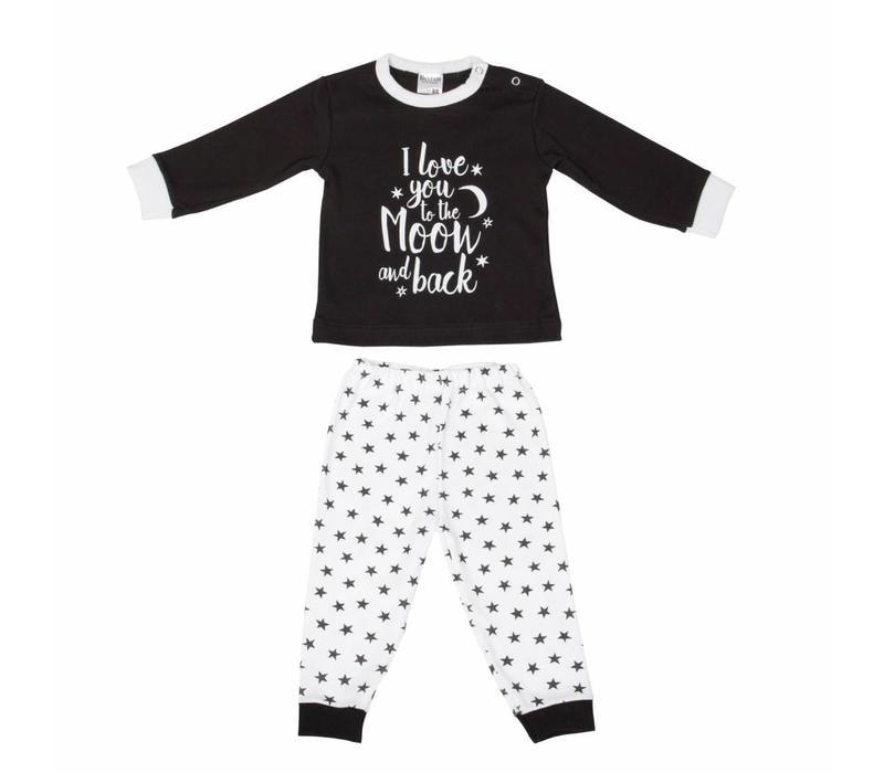 Beeren Ondergoed Baby Pyjama to the Moon Zwart