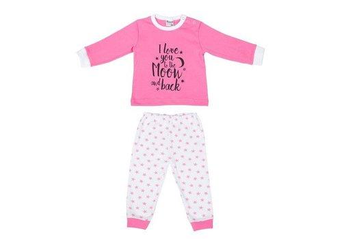 Beeren Ondergoed Beeren Ondergoed Baby Pyjama to the Moon Roze