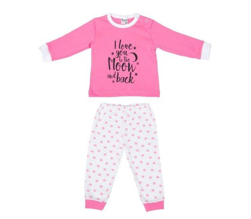 Beeren Ondergoed Baby Pyjama to the Moon Roze