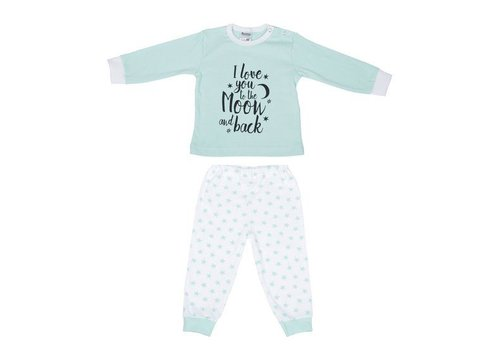 Beeren Ondergoed Beeren Ondergoed Baby Pyjama to the Moon Mint