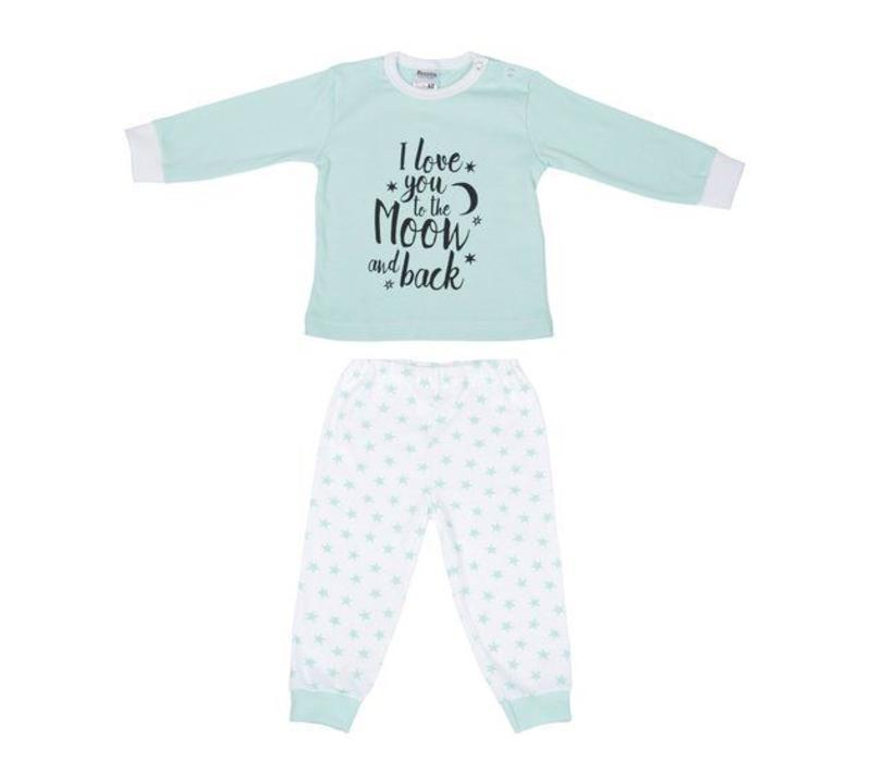 Beeren Ondergoed Baby Pyjama to the Moon Mint
